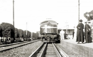 Estação de trem em 1950