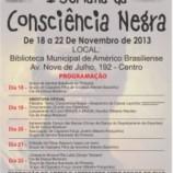 Convite – I SEMANA DA CONSCIÊNCIA NEGRA