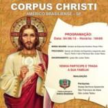 Cidade  realiza evento de Corpus Christi