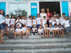 Alunos da Fase II do Cer Carolina Ometto Pavan visitam Gabinete da Prefeita.