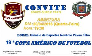 Convite – Abertura 19ª Copa Américo de Futebol