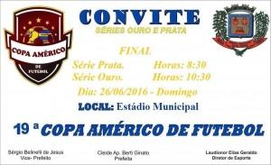 Convite –  Final  da 19ª Copa Américo de Futebol