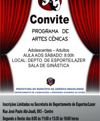Convite – Programa de Artes Cênicas