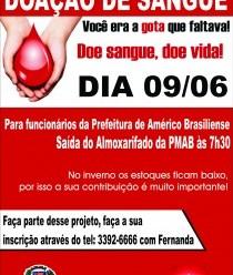 Atenção- Campanha de Doação de Sangue