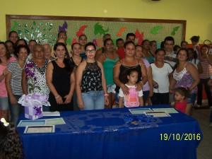 Pais e Familiares prestigiaram a cerimônia.