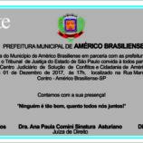 Reinauguração do CEJUSC em Américo Brasiliense