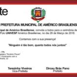 Américo Brasiliense Realiza a Cerimônia de Inauguração da UNIVESP (Universidade Virtual do Estado de São Paulo).