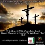 Américo Brasiliense Realiza 2ª Encenação da Paixão, Morte e Ressurreição de Jesus Cristo