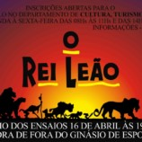 """Departamento de Cultura de Américo Brasiliense Apresentará o Espetáculo """"O Rei Leão"""""""