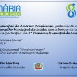 Américo Brasiliense Realiza 2ª Plenária de Saúde Municipal